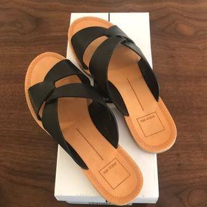 Dolce Vita Derby Sandal Slide, Black, sz 8